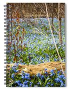 Carpet Of Blue Flowers In Spring Forest Spiral Notebook