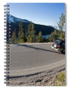 Cars Driving Along Hwy 89 Over Emerald Spiral Notebook