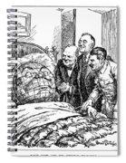Cartoon: Big Three, 1945 Spiral Notebook