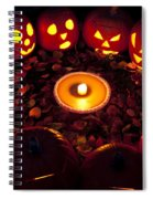 Carved Pumpkins With Pumpkin Pie Spiral Notebook