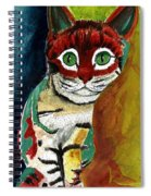 Cat Around Corner Spiral Notebook