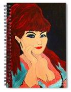 Cat Eye Woman Spiral Notebook
