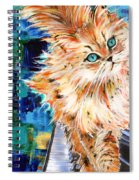 Cat Orange Spiral Notebook