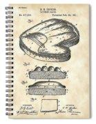 Catcher's Glove Patent 1891 - Vintage Spiral Notebook