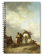 Seashore With Fishwives Offering Fish Spiral Notebook