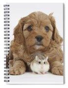 Cavapoo Puppy And Roborovski Hamster Spiral Notebook