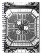 Ceiling Of Leadenhall Market In London Spiral Notebook