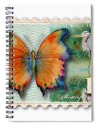 1 Cent Butterfly Stamp Spiral Notebook