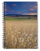 Cereal Fields At Sunset Spiral Notebook