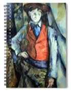 Cezanne's Boy In Red Waistcoat Spiral Notebook