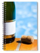 Champagne Bottle And Cork Spiral Notebook