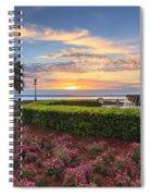 Charleston Sc Waterfront Pineapple Fountain Spiral Notebook