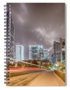 Charlotte Nc Usa Skyline During And After Winter Snow Storm In January Spiral Notebook