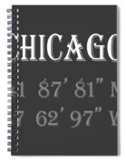 Chicago Coordinates Spiral Notebook