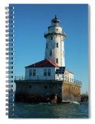 Chicago Harbor Lighthouse Spiral Notebook