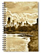 Chicago In Sepia Spiral Notebook