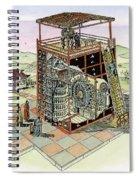 Chinese Astronomical Clocktower Built Spiral Notebook