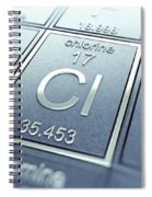Chlorine Chemical Element Spiral Notebook