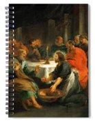 Christ Washing The Apostles' Feet Spiral Notebook