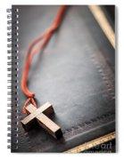Christian Cross On Bible Spiral Notebook