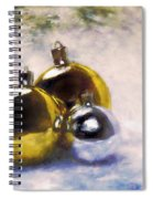 Christmas Balls Artistic Vintage Painting Spiral Notebook