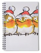 Christmas Robins  Spiral Notebook