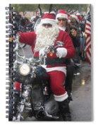 Christmas Toys For Tots Santa On Motorcycle Casa Grande Arizona 2004 Spiral Notebook