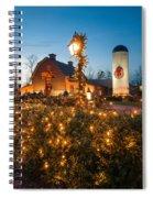 Christmas Village Decorations Spiral Notebook