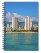 City At The Waterfront, Waikiki Spiral Notebook