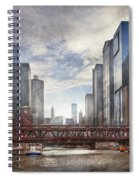 City - Chicago Il - Looking Toward The Future Spiral Notebook
