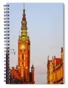 City Hall In Gdansk Spiral Notebook