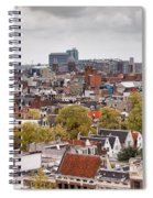 City Of Amsterdam From Above Spiral Notebook