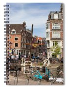 City Of Amsterdam In Netherlands Spiral Notebook