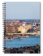 City Of Budapest At Sunset Spiral Notebook