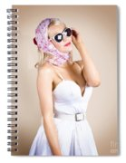 Classical Pinup Girl Posing In Retro Fashion Style Spiral Notebook