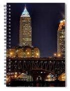 Cleveland Skyline At Night Spiral Notebook