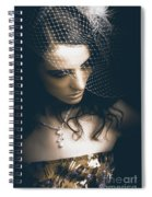 Close Up Portrait Of A Beautiful Vintage Bride Spiral Notebook