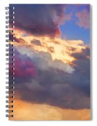 Cloudscape Sunset Touch Of Blue Spiral Notebook