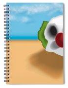Clown Skull In The Desert Spiral Notebook