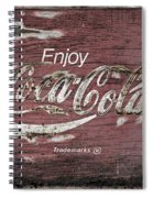 Coca Cola Pink Grunge Sign Spiral Notebook