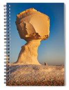 Cock And Mushroom Formation In White Desert Spiral Notebook