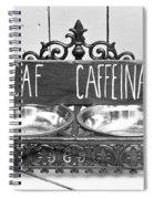 Coffee Bean Holder Spiral Notebook
