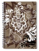 Coffee Flowers 10 Spiral Notebook