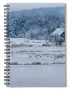 Cold Blue Snow Spiral Notebook
