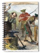 Colonial Blacksmith, 1776 Spiral Notebook