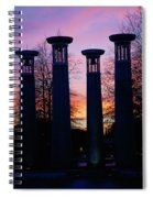 Colonnade In A Park At Sunset, 95 Bell Spiral Notebook