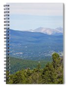 Colorado Continental Divide 5 Part Panorama 5 Spiral Notebook