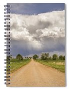 Colorado Country Road Stormin Skies Spiral Notebook