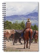 Colorado Cowboy Cattle Drive Spiral Notebook
