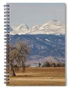 Colorado Front Range Continental Divide Panorama Spiral Notebook